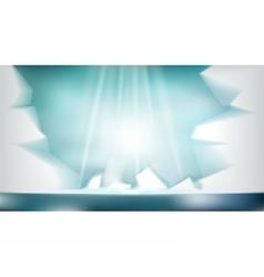 Digital abstract empty light frozen icy vector