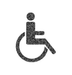 disabled sign black icon vector image vector image