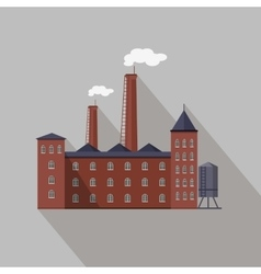 Factory building in flat vector