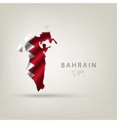 Flag of BAHRAIN as a country with a shadow vector image vector image