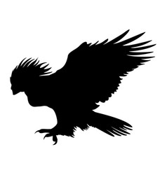 Harpy silhouette ancient mythology fantasy vector