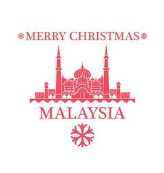 Merry christmas malaysia vector