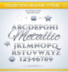 Metallic graphic styles for design use for decor vector