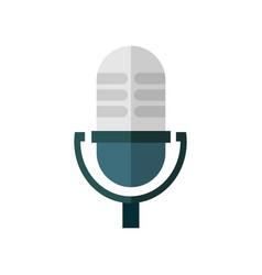 Old microphone speak graphic vector