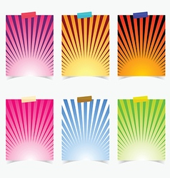 Poster promotional with colorful item on it vector