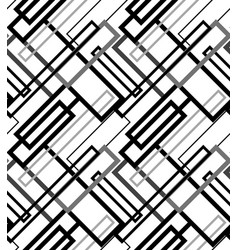 seamless pattern abstract patchwork with geometric vector image vector image