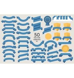 Set of 50 Ribbons vector image vector image
