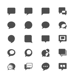 Speech bubble flat icons vector image vector image