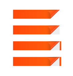 Sticker banner orange vector