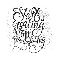 Stop procrastination vector