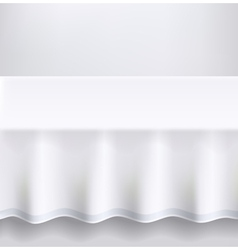 Table with a white cloth vector image