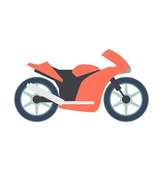 Transport flat Bike icon isolated on white vector image