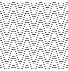 Wavy line black-white seamless pattern vector