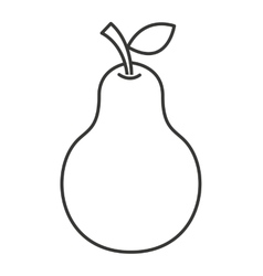 Pear fruit isolated icon vector