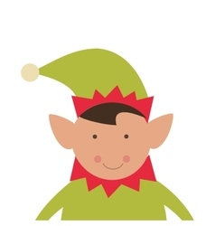 Elf merry christmas design vector