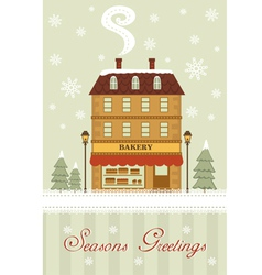 Seasons greetings bakery vector