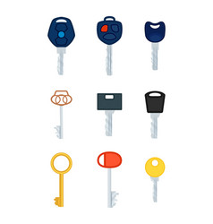 Different types of keys collection of pictures vector