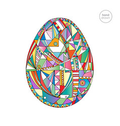 Easter egg hand drawn abstract vector