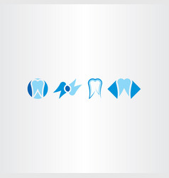tooth set icon logo collection symbol vector image