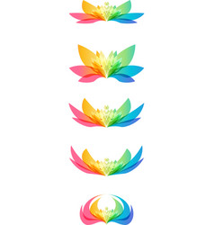 Set flower head vector