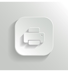 Printer icon - white app button vector