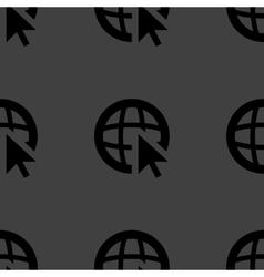 globe web icon flat design Seamless pattern vector image