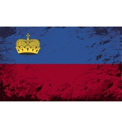 Liechtenstein flag grunge background vector