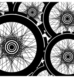 road and mountain bike wheels and tires vector image