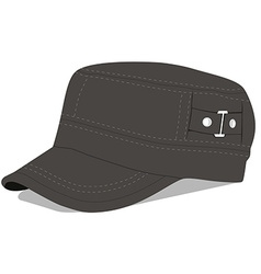 Green military cap vector