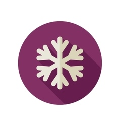 Snowflake snow flat icon meteorology weather vector