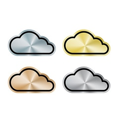 Internet cloud of platinum gold silver bronze vector