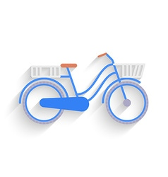 Bike for the city flat design vector