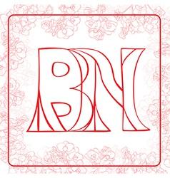 BN monogram vector image