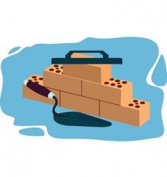 brick laying vector image