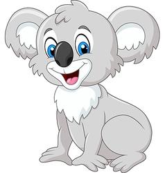 Cartoon adorable koala sitting isolated vector