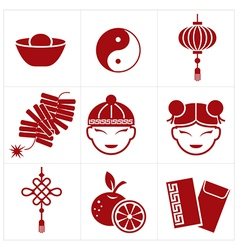 chinese new year icon vector image