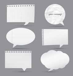 Collection of note papers background vector image