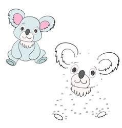 Connect the dots game koala vector