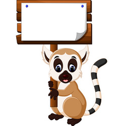 Cute lemur cartoon vector