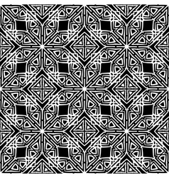 Dark ornamental seamless line pattern vector