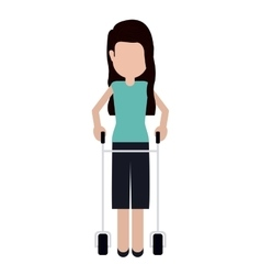 Disabled girl cartoon design vector image