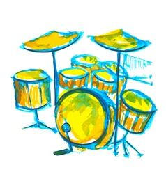 Drums watercolor vector