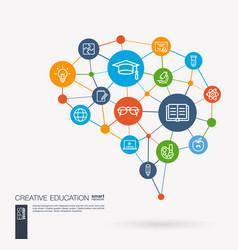 Education elearning graduation and school vector