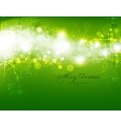Elegant Lime Green Christmas Background vector image