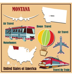 Flat map of Montana vector image