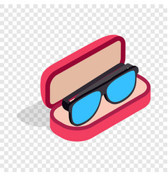 Glasses in box isometric icon vector
