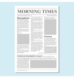 Graphical design newspaper journal vector