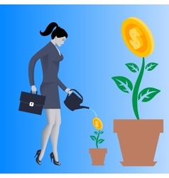 Growing new business concept vector