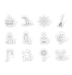 Halloween icon pack vector image vector image