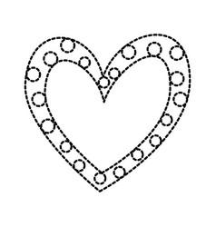 heart love romance passion dots decoration image vector image